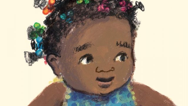 book cover of a young African American baby