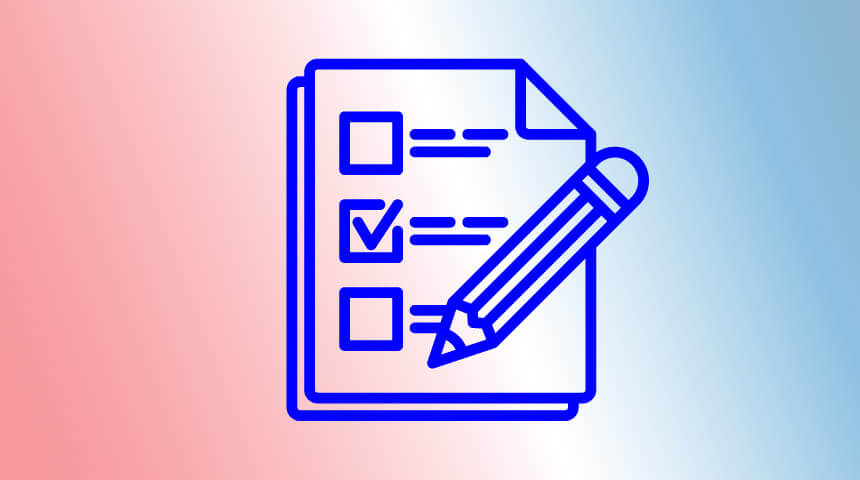 Graphic of a checklist and a pencil with one of the items on the list checked off.