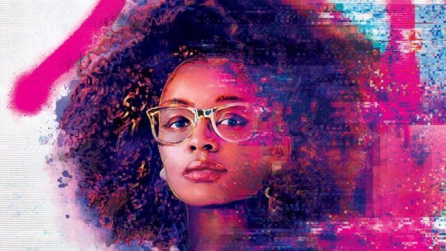 Book cover of A black teen wearing glasses looks at the camera