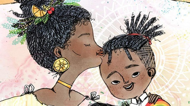 Book cover of Animated picture of a mother kissing their child on the forehead