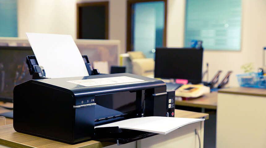 Laser Printer on the table in an office