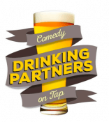 logo of the show, an illustration of a glass of beer surrounded by a ribbon with the name of the show on it.