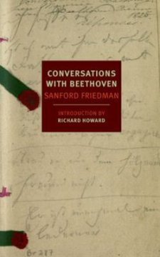 """The title, """"Conversations With Beethoven"""" appears in the center of a handwritten note."""