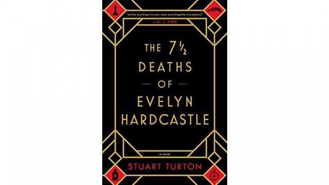 book cover for The 7 1/2 Deaths of Evelyn Hardcastle