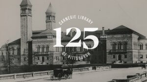 Vintage photograph of the main branch of Carnegie Library of Pittsburgh
